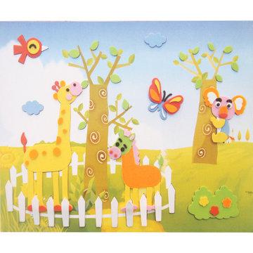 儿童手工制作eva3d贴画 益智拼图立体diy美劳材料 ef25469(长颈鹿030)