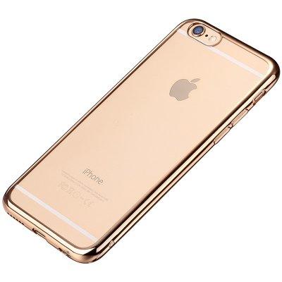 plus手机电镀壳 保护壳 电镀套 iphone6/6s plus透明硅胶软壳(太空灰