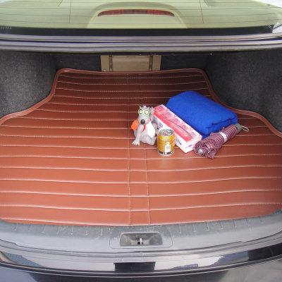 专车专用后备箱垫 皮革防水尾箱垫 汽车用品 定制型(商务棕 东风标致