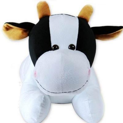 毛绒玩具奶牛公仔小号牛布娃娃创意玩偶靠垫抱枕情人节礼物