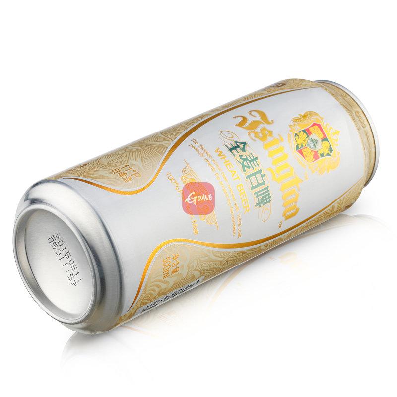 青岛啤酒 全麦白啤酒500ml*12听
