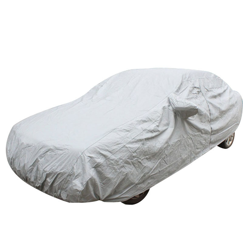 石家垫 汽车车衣车罩棉绒加厚车套 银色速腾明锐悦动科鲁兹凯越卡罗拉