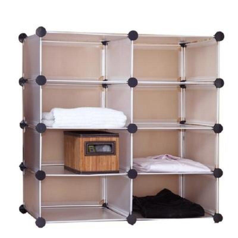 蔻丝diy创意魔片 衣柜收纳架 衣柜整理架 免工具安装特价宜家 天使白